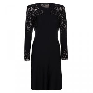 Alexander McQueen Black Knit Long Sleeve Dress M