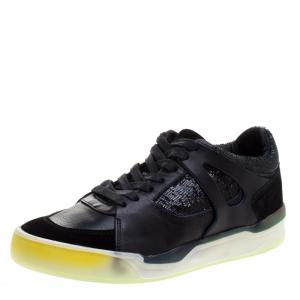Alexander McQueen for Puma Black Leather Move Femme Lace Up Sneakers Size 37