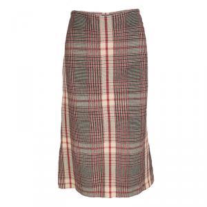 Alexander McQueen Multicolor Plaid High Waist Skirt M