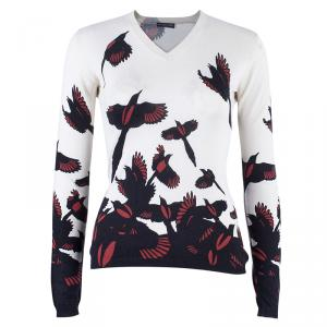 Alexander McQueen Bird Print Knit Sweater S