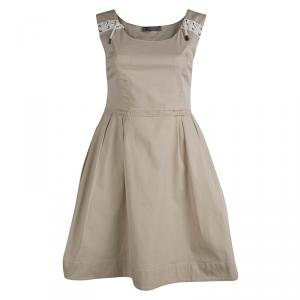 Alexander McQueen Beige Cotton Sleeveless Dress M