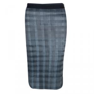 Alexander Wang Silver Pleated Pencil Skirt M