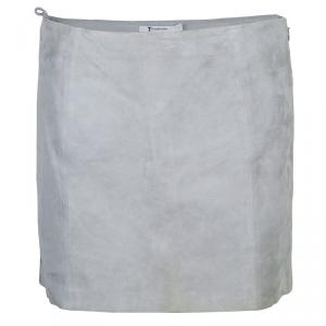 Alexander Wang Grey Suede Mini Skirt M