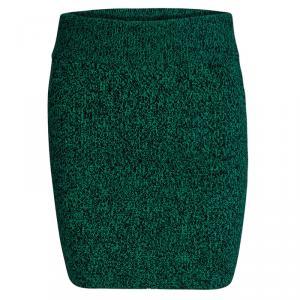 T by Alexander Wang Green Slub Wool Skirt XS