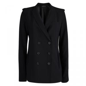 Alexander Wang Black Double Breasted Notched Collar Blazer M