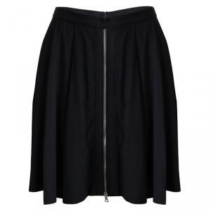 Alexander Wang Black Zip Detail Pleated Skirt S