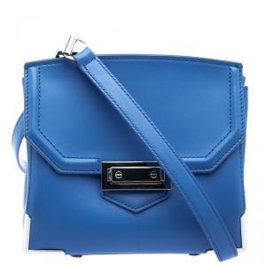 Alexander Wang Blue Leather Small Marion Shoulder Bag