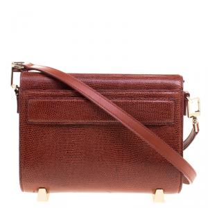 Alexander Wang Copper Lizard Embossed Leather Mini Chastity Sling Bag