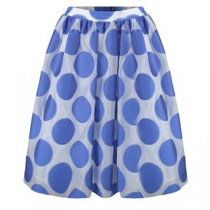 Alice + Olivia Camille Gathered Polka Dot Skirt S