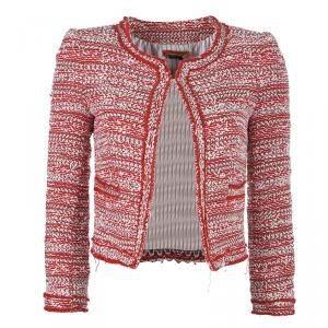 Alice + Olivia Red White Tweed Blazer XS