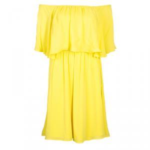 Alice + Olivia Shari Yellow Off-shoulder Dress XS