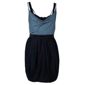 Alice + Olivia Grey and Black Sleeveless Dress M