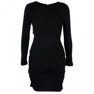 Alice + Olivia Goddess Black Long Sleeve Dress S