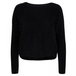Alice + Olivia Black Fuzzy Sweater XS