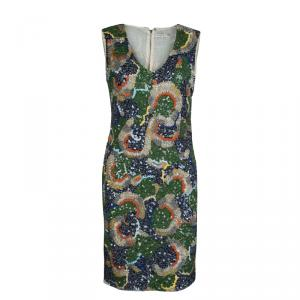 Alice + Olivia Multicolor Embellished Sleeveless Dress M