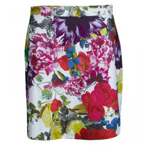 Alice + Olivia Multicolor Floral Printed Mini Skirt M