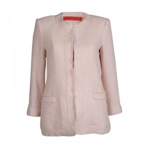 Alice + Olivia Pink Textured Cotton Jacket S