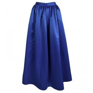 Alice + Olivia Cobalt Blue Tina Satin Maxi Skirt XS