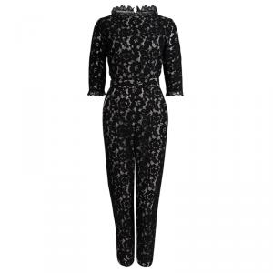 Alice by Temperley Black Lace Belted Jumpsuit M