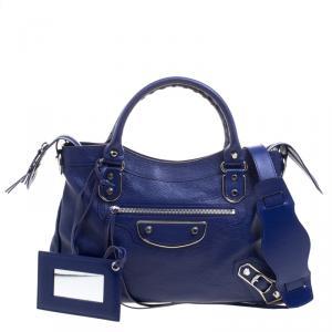 Balenciaga Electric Blue Leather Town RSH Shoulder Bag
