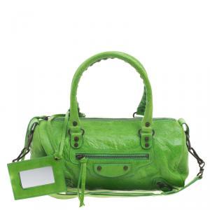 Balenciaga Apple Green Leather Mini RH Twiggy Satchel