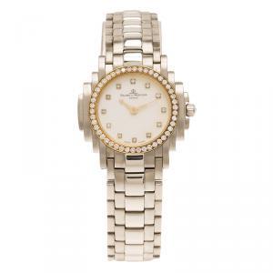 ساعة يد نسائية باوميه & ميرسيه ريفيريا ستانلس ستيل ذهبية 26 مم