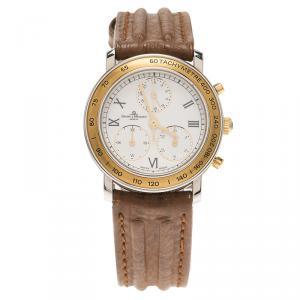 ساعة يد نسائية باوميه & ميرسيه كلاسيك ستانلس ستيل بيضاء 28مم