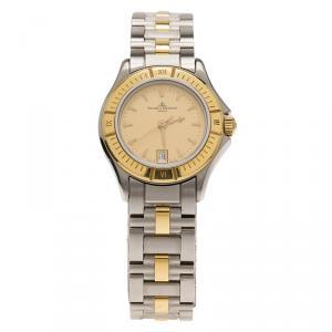 Baume & Mercier Gold Stainless Steel Classic Unisex Wristwatch 28MM