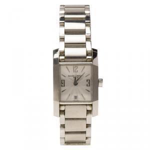 ساعة يد نسائية باوميه & ميرسيه ديامانت 65488  ستانلس ستيل بيضاء 23مم