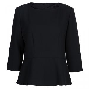 Boss By Hugo Boss Black Peplum Top L