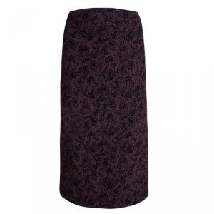 Boss By Hugo Boss Purple Textured Vilori Pencil Skirt M