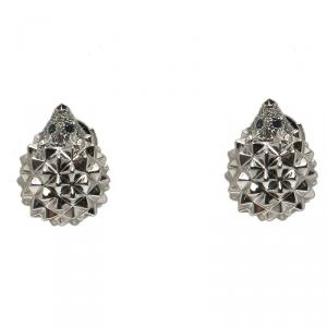 Boucheron Hedgehog Diamond 18k White Gold Stud Earrings