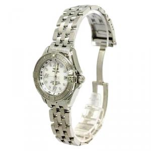 Breitling Mother of Pearl Stainless Steel B-Class Women's Wristwatch 30MM