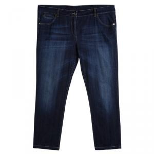 Brunello Cucinelli Indigo Dark Wash Denim Skinny Fit Jeans XXXL