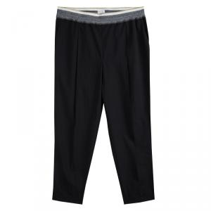 Brunello Cucinelli Dark Grey Elasticized Waist Pants XL
