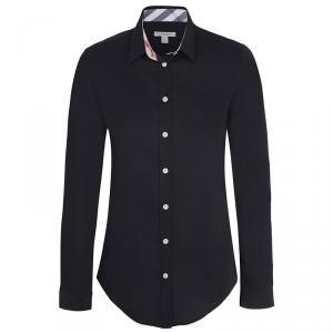 Burberry Brit Black Novacheck Detail Cotton Shirt L
