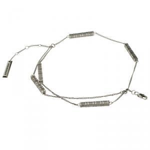 Burberry Grey Metal Cube chain Bracelet