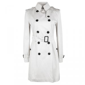 Burberry London Beige Double Breasted Belted Trench Coat XS