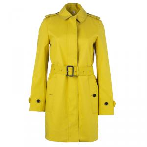 Burberry Chartreuse Yellow Bondedcotton Trenchcoat XS