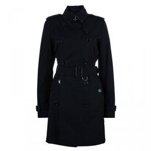 Burberry Black Long Heritage Trench Coat M