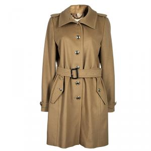 Burberry Beige Cashmere Tailored Coat M