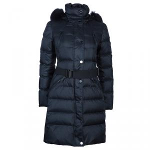Burberry Down Filled Jacket with Fur Hood S