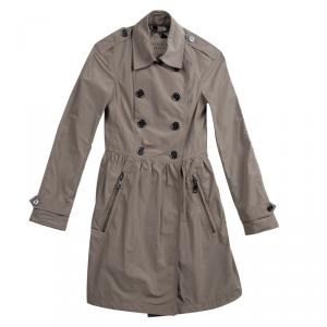 Burberry Brit Beige Double Breasted Overcoat XS