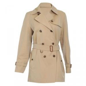 Burberry Beige Short Trench Coat S