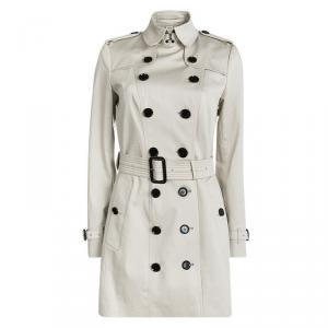 Burberry London Beige Double Breasted Belted Trench Coat M