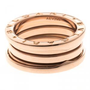 Bvlgari B.Zero1 3-Band 18k Rose Gold Ring Size 54