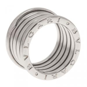 Bvlgari B.Zero1 4-Band 18K White Gold Ring Size 52