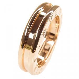 Bvlgari B.Zero1 1-Band Rose Gold Ring Size 50