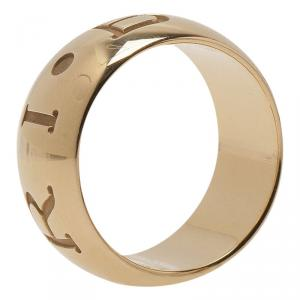 Bvlgari Monologo Yellow Gold Band Ring Size 57