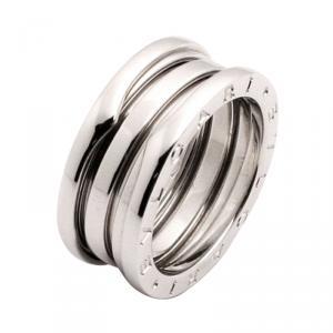 Bvlgari B.Zero1 18K White Gold 3 Band Ring Size 55